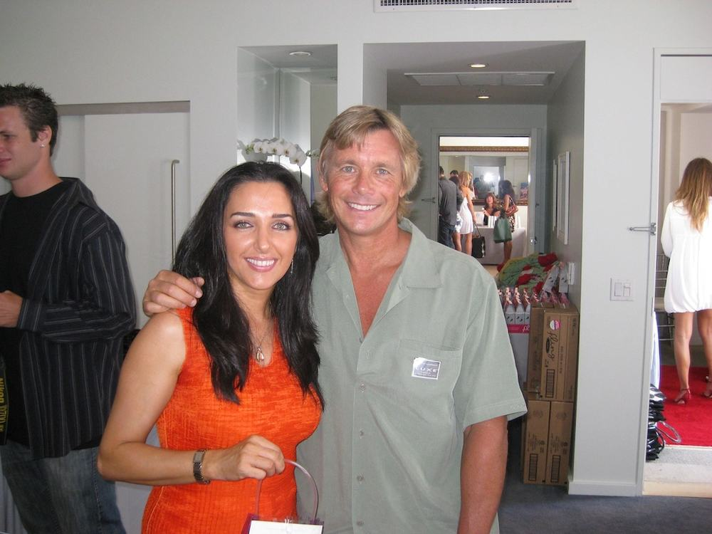 Pre Emmys with Blue Lagoon star Christopher Atkins.
